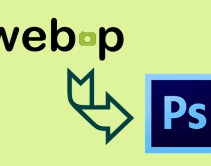 Cómo abrir una imagen de formato WebP en Photoshop