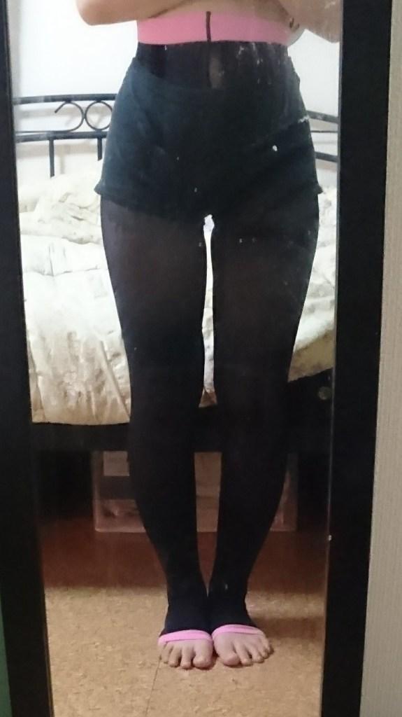 メディキュットを着用した足の写真