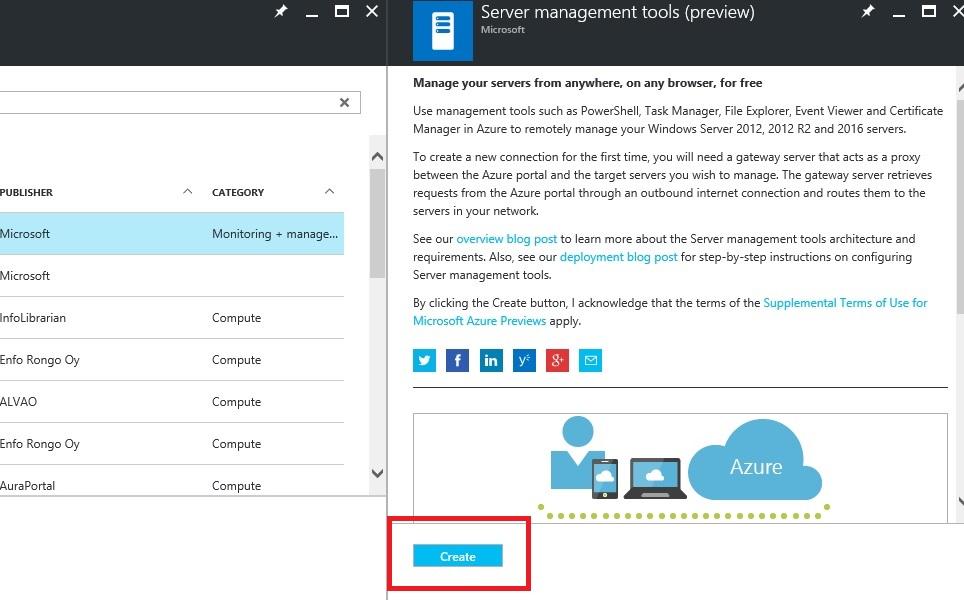 Azure Server Management tools - manage your servers in browser   Toroman