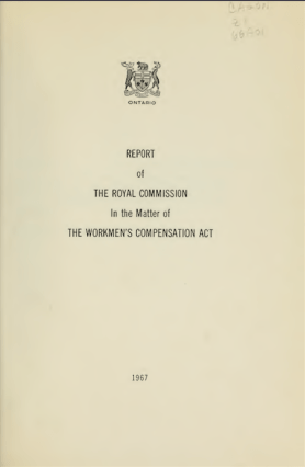 Royal Commission Workmans Compensation Act
