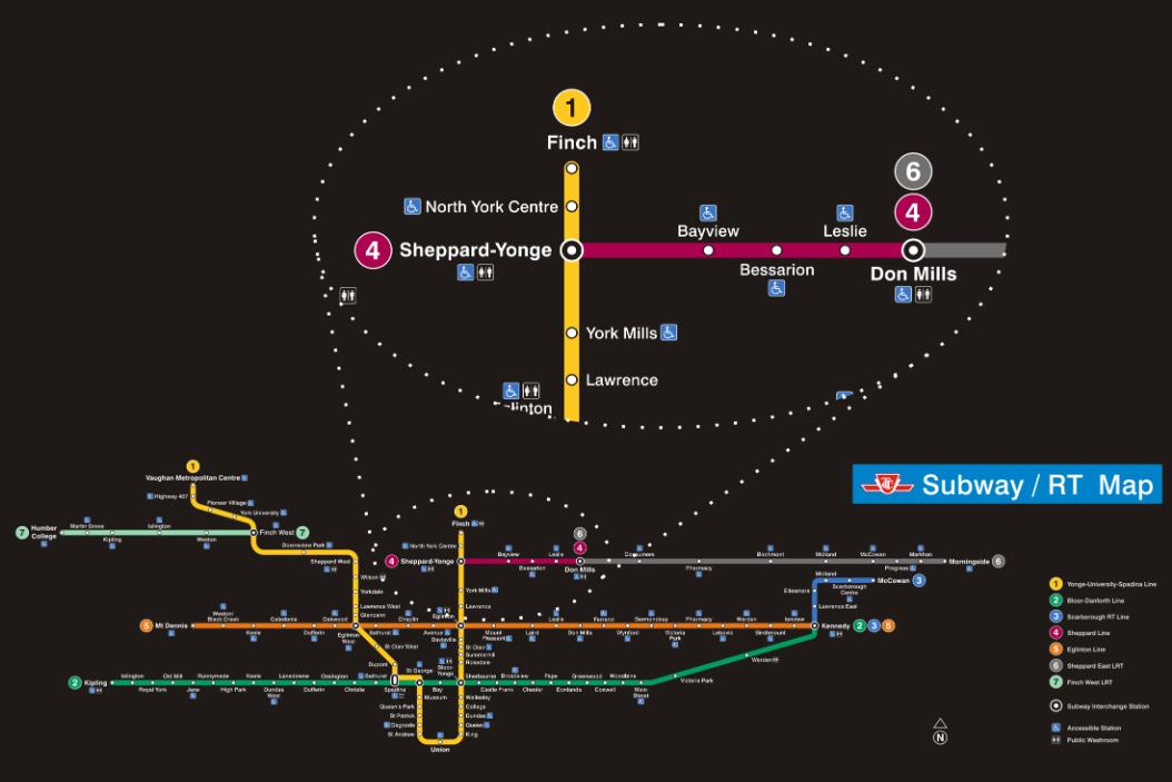 Toronto Map Dallas Line