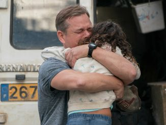 """Matt Damon (left) stars as """"Bill"""" and Lilou Siauvaud (right) stars as """"Maya"""" in director Tom McCarthy's STILLWATER, a Focus Features release. Credit Jessica Forde / Focus Features."""