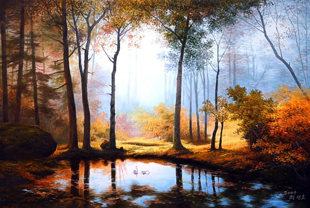 painting-of-forest-and-pond