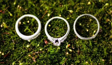 Wedding Rings on Moss