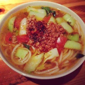 Sample Size Xiao Guo Rice Noodle at our 1st event, One Hour Menu Tasting