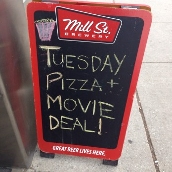 Dinner & a Movie | $6 movie ticket with the purchase of a pizza or a Toronto Common ticket! :)