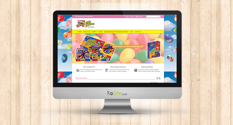 eCommerce website for an online candy store