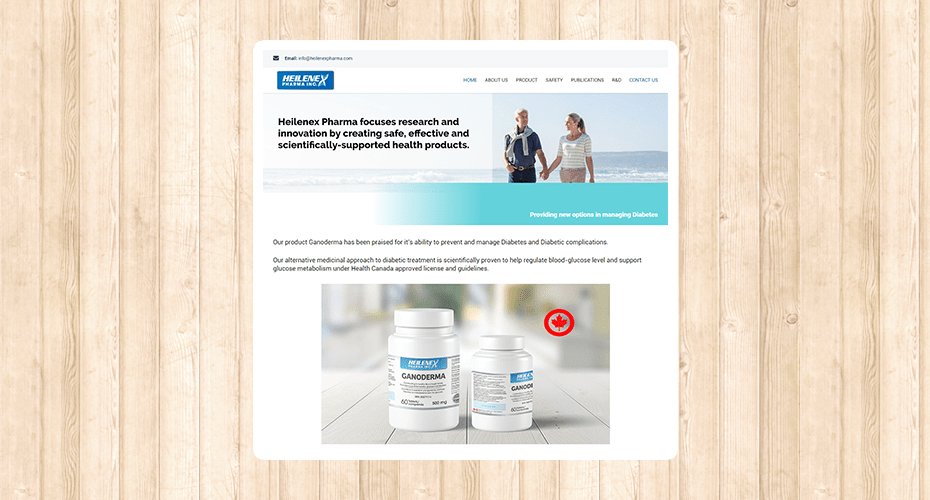Responsive website for a pharmaceutical company