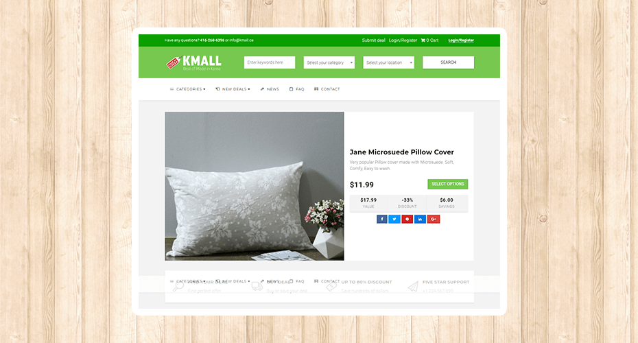eCommerce website development for a company