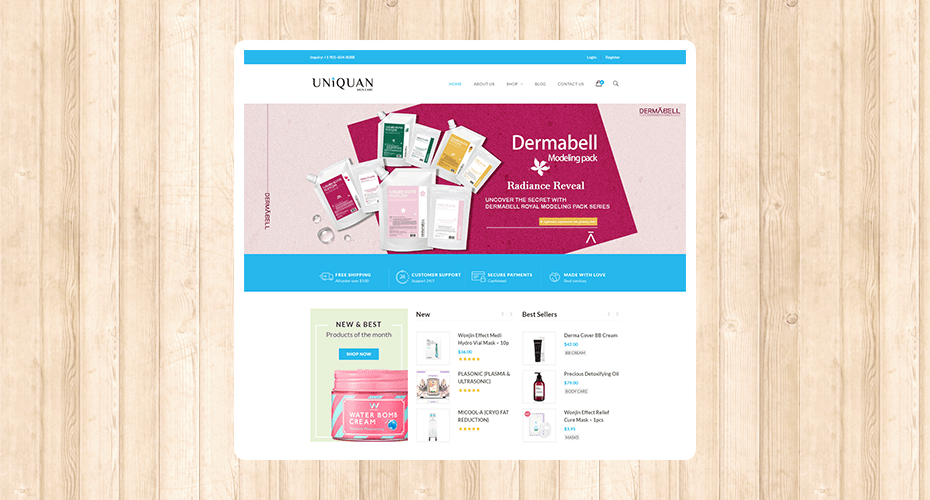 Complete Ecommerce Website for Uniquan
