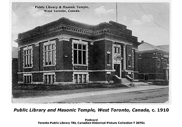 Public Library and Masonic Temple, West Toronto, 1910