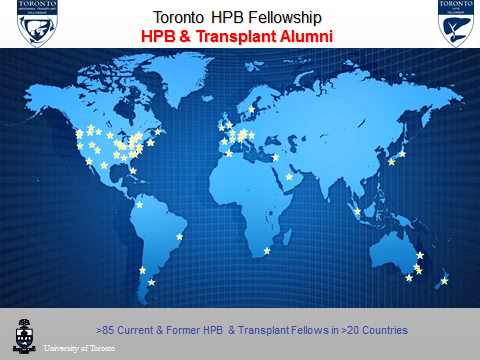 Locations of HPB alumni