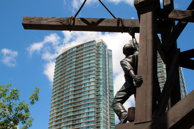 The Chinese Railroad Workers Memorial. Photo by Shaun Merritt from the Torontoist Flickr Pool.