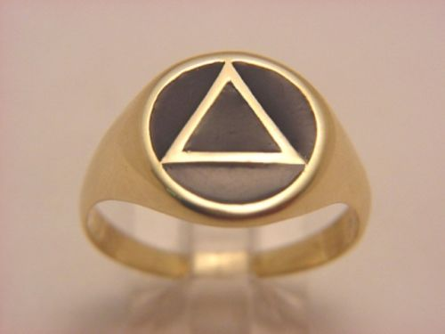 New 10k Gold Alcoholics Anonymous Aa Ring 171 Jewellery Store
