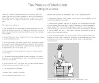 The Posture Of Meditation: Sitting on a Chair   Toronto ...