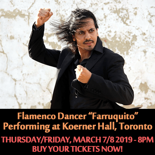 Flamenco Dancer Farruquito Performing at Koerner Hall on March 7-8 2019