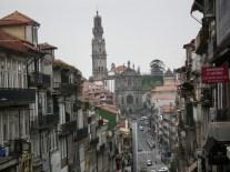 The route to Clérigos Church down Porto's hills.