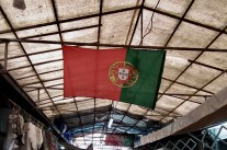 Portugal's flag hung proudly in almost every establishment.