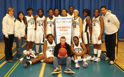 Pope John Paul II's girls' basketball team.