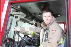 Firefighter Mark Gatensby. (Maxx Smith/Toronto Observer)