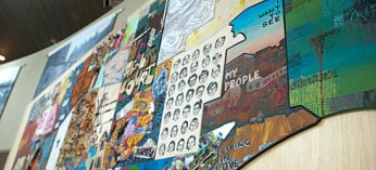 Artists from Toronto's 44 wards created mini murals to represent their communities.