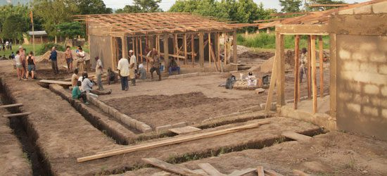 Excavating took the villagers and the students about two weeks.