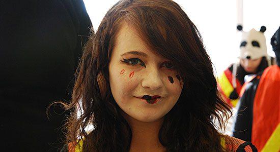 Winterfest face painting volunteer.