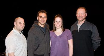 Director and president of Scarborough music theatre, Jason Silzer along with Sergio Calderon, who plays both Cain and Japheth, Lisa Metzger who plays Yonah and John Mallett who plays Father