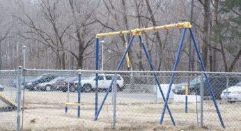 A broken down playground outside of 217 Morningside Ave.