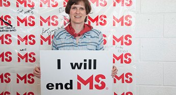 Barbara Dickson, who has had MS for the past 18 years, believes a cure will be found soon.
