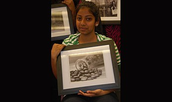 Haritha A. with her photo submission.