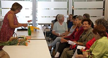 Flower-arranging demonstrations were among the draws of the Scarborough Garden and Horticultural Society's annual flower show on Sept. 11.
