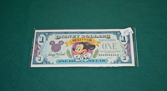 Disney collectible money