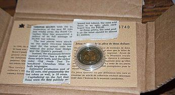 Toonie mint test coin