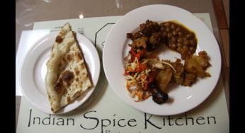 Our reviewer's main course consisted of chicken tikka masala, masala aloo and chana masala with naan. There were some delicious highlights, like the naan, but the main course didn't meet expectations.