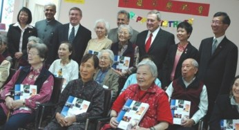 Phillips presented Outstanding Volunteer Awards to CareFirst volunteering seniors.