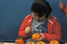 In addition to the meal they helped create at a recent Kids Cook To Care event at the Christie Ossington Neighbourhood Centre, young volunteers added to the community event by decorating pumpkins ahead of Halloween.