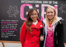 Youth Ambassadors Crystal Gao (left) and Nicole Toole share their thoughts on why the day is important.