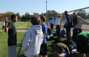 Birchmount Park Collegiate students getting ready for cross-country practice