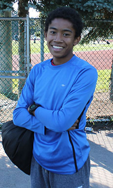 Ed Hayfron, a promising young runner from Birchmount Park Collegiate