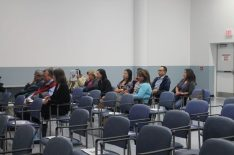 Resident's and TSH staff listen to the presentation on refreshing the hospitals strategic plan