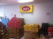 A look inside the outlet store at the Dad's cookie factory in Scarborough.