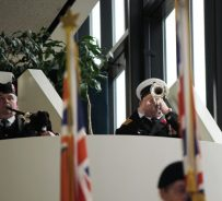 Trumpeter plays 'The Last Post' at Scarborough Remembrance Day ceremony.