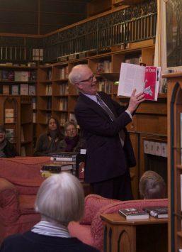 "Nicholas Hoare shares a laugh as he describes ""The Big New Yorker Book of Dogs"" Nov. 13, 2012"