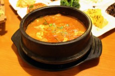 Soybean paste stew (doenjang jjigae)