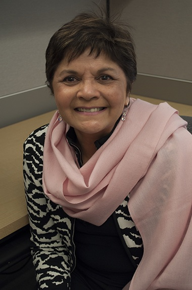 Melanie D'Silva is cancer free after treatment at Sunnybrook hospital' s breast cancer facilitiesl