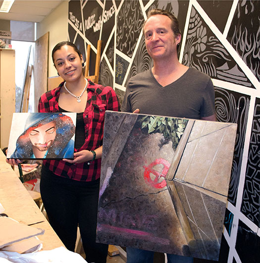 Ashley Pleasant and Gavin MacDougall (photo by Tamar Atik/Toronto Observer)
