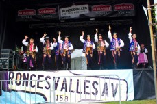 Tatry, a Polish dance ensemble, performing on the main stage of the festival.
