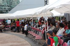 A smaller crowd than last year brave the weather at the 2013 Toronto Mela Summer Festival, which took place on a rainy Sept. 7. The 2012 event drew 2,000 people, almost double the 1,200 who braved the rain this year.