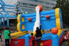 An inflatable play station set up for the children to enjoy at the Toronto Mela Summer Festival at Scarborough Town Centre on Sept. 7.